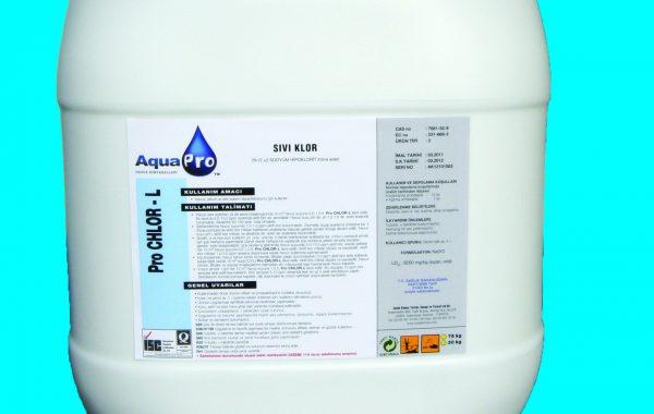 PRO CHLOR – L (sodyumhipoklorit – sıvı klor)